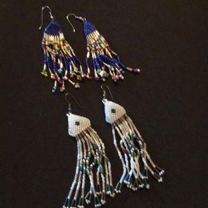 2 pairs of beaded earrings